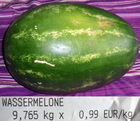 Wassermelone 9.7 kg