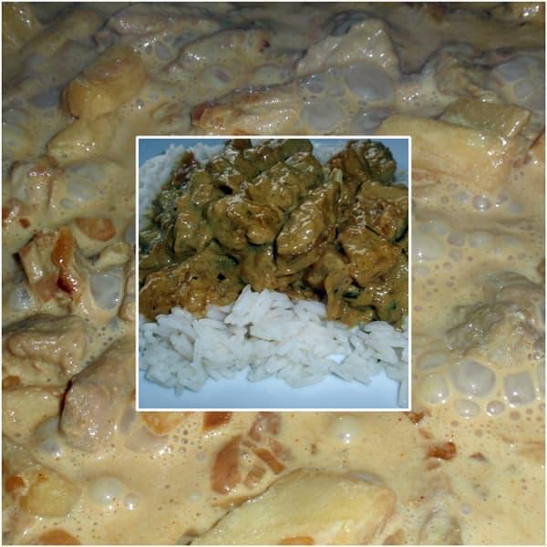 Rezept: Curry Geschnetzeltes mit Reis
