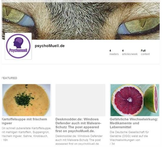 Logo und Cover Bild im WordPress Feed von Feedly anzeigen