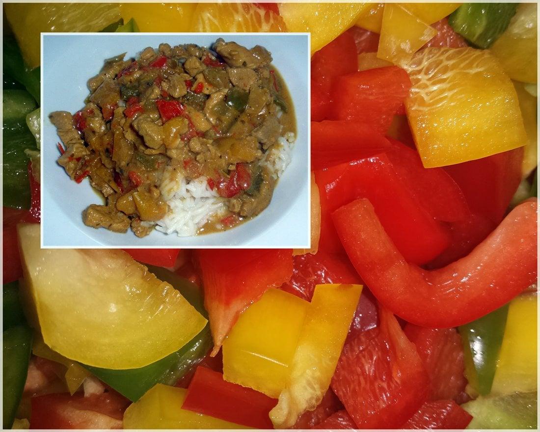 Pikantes Curry: Geschnetzeltes mit Paprikaschoten