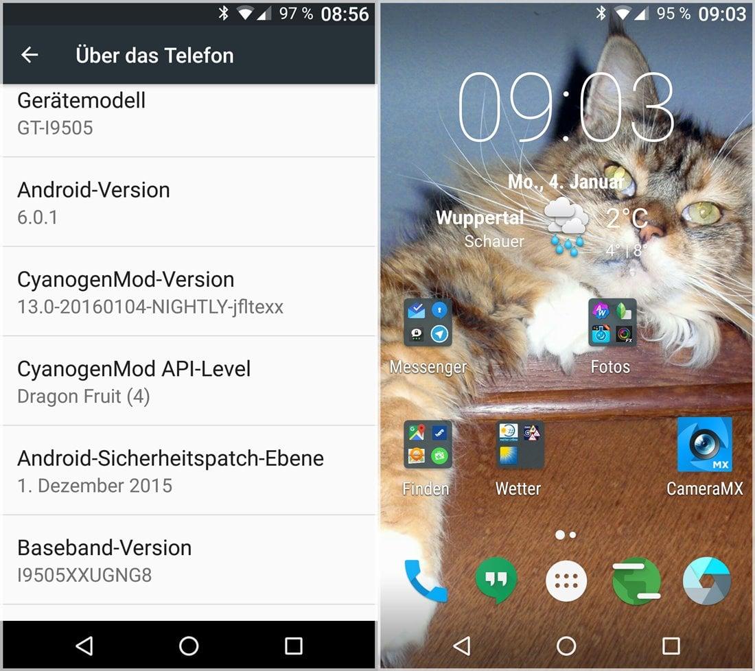 CyanogenMod 13 auf meinem s4 (I9505)
