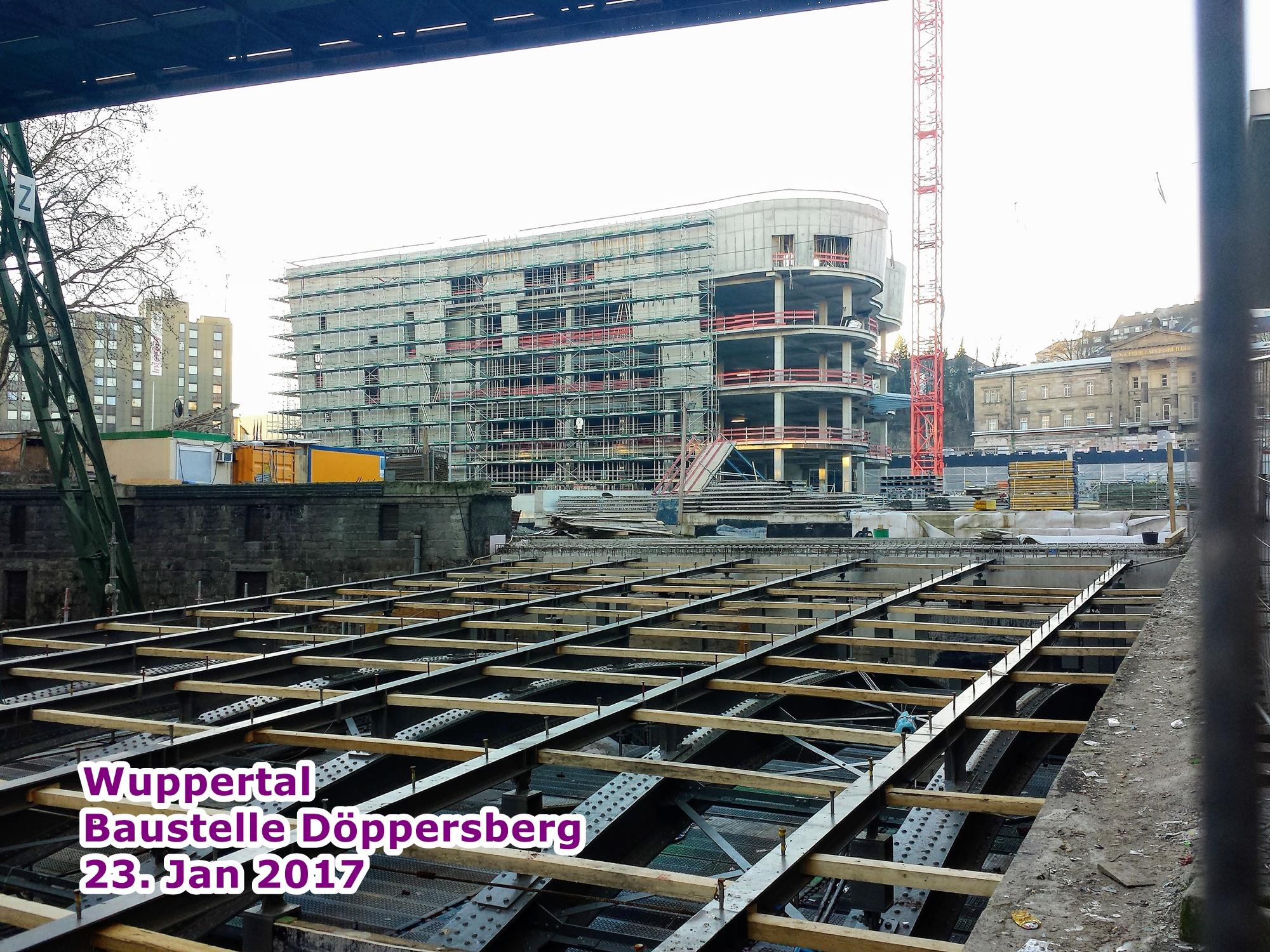 Wuppertal Baustelle B7 (Döppersberg) Januar 2017