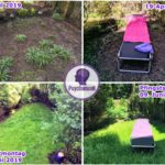 Gartenecke hinter dem Haus