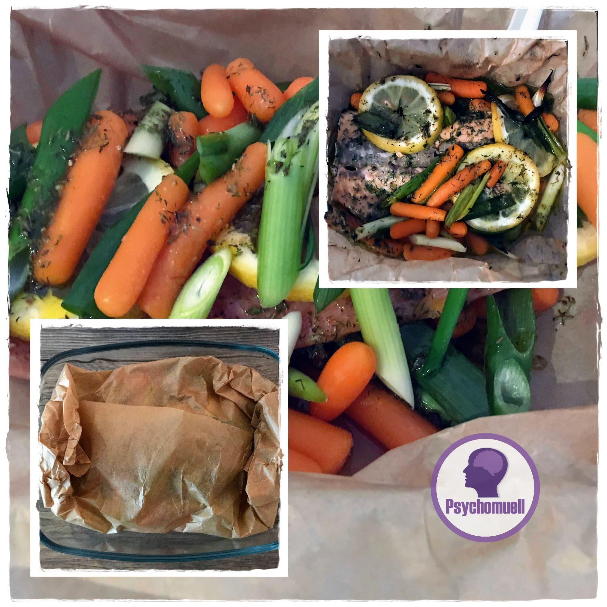 Lachs im Gemüsepäckchen