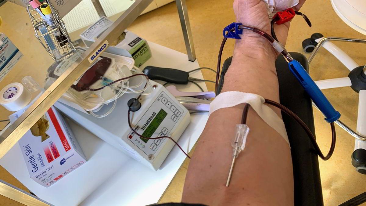 Meine vierteljährliche Blutspende